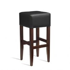 Vanna Heat Bar Stool Dark Walnut Black